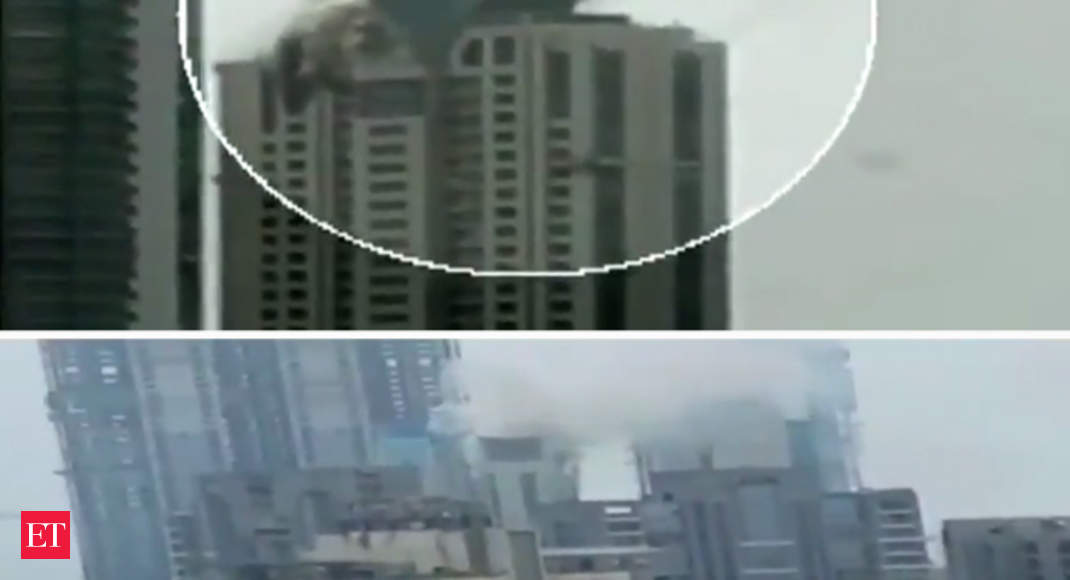 Watch Fire Breaks Out At Worli High Rise In Mumbai The Economic Times Video