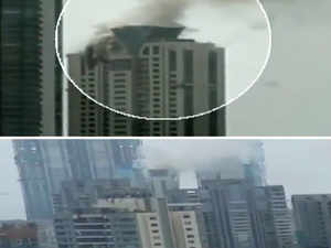 Watch: Fire breaks out at Worli high-rise in Mumbai