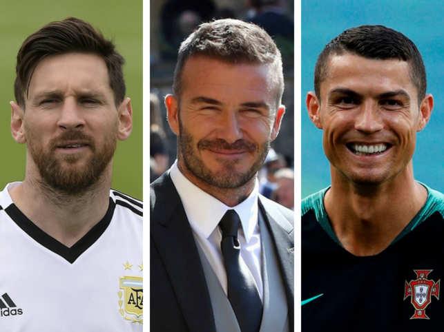 Lionel Messi, David Beckham & Cristiano Ronaldo
