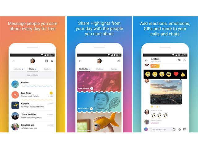 Skype – free IM & video calls - Security, Messenger, Artwork