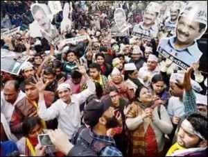 Delhi: AAP workers begin protest march to PM's residence