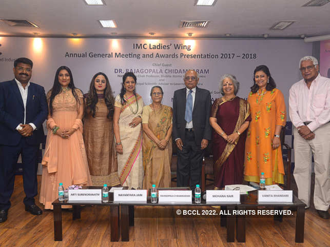 (From left) Agnelorajesh Athaide, Aarti Surendranath, Deepika Singh Rajawat, Nayantara Jain, Manju Srivastava, R Chidambaram, Mohana Nair, Vanita Bhandari and Ashok Kurien