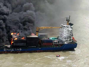 Watch: Raging fire on board MV SSL Kolkata extinguished by Mi-17 V5 helicopter