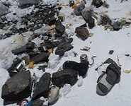 Climbers turn Everest into a mighty dump