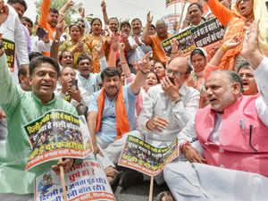 BJP delhi protest