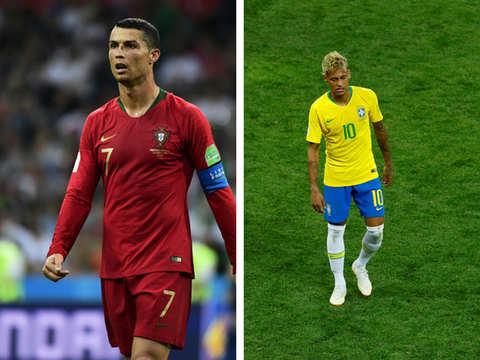 detailed look 95e48 eff32 Footie Falls: When Ronaldo, Neymar Fell Flat On Their Face ...