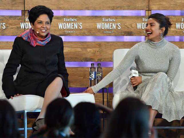 Moira Forbes  Indra Nooyi chats with Priyanka Chopra - and it s a ... bc8d7be1e