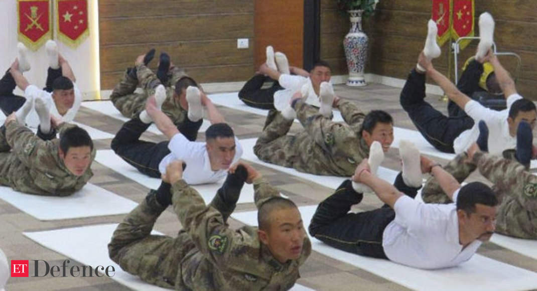 Indian, Chinese Soldiers Do Yoga Together in Ladakh
