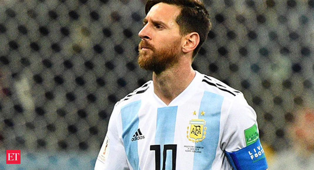 5082b7ba8 World Cup 2018  Argentina and Messi stunned by Modrić s Croatia - The Economic  Times Video