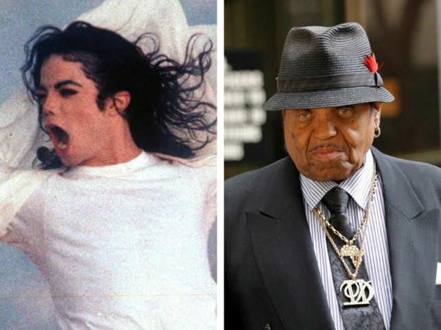 Michael Jackson and father Joe Jackson