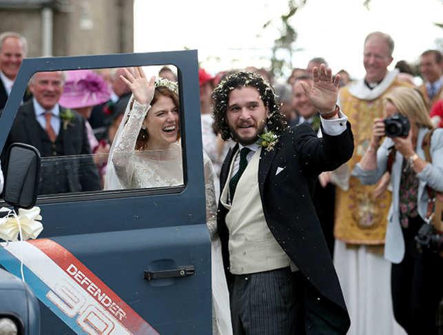 Kit Harington And Rose Leslie Wedding Photos