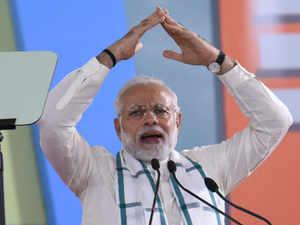 Modi on podium BCCL