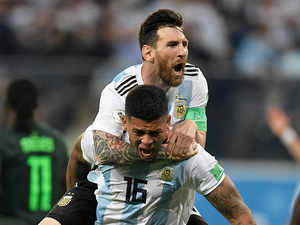 World Cup 2018: Messi's Argentina scrape into last 16 with last-gasp goal