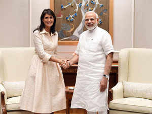 Narendra Modi and Nikki Haley