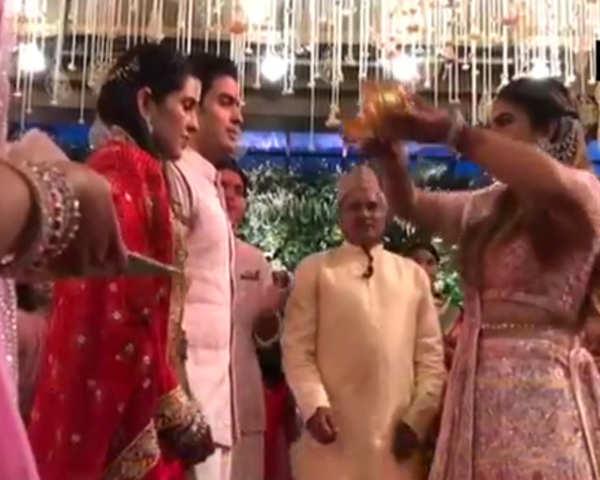 Watch: Akash Ambani, fiancée Shloka celebrate pre-engagement ceremony with  family and friends