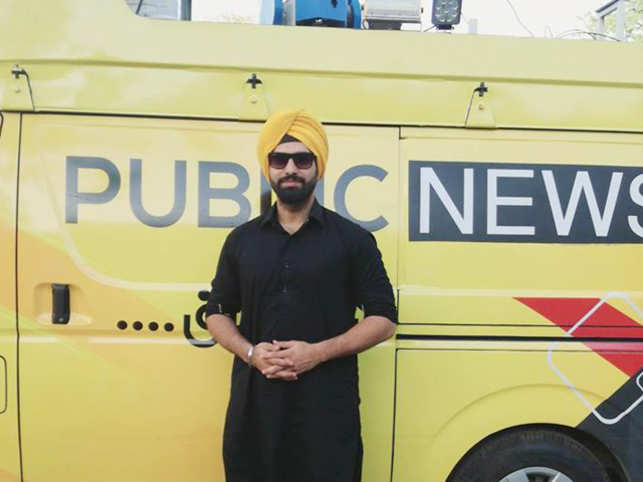 Harmeet Singh -- the first Sikh to become a newscaster in Pak