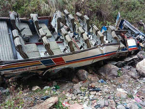 48 killed as bus falls into gorge in Uttarakhand - The Economic Times