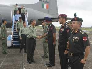 Visiting Chinese Army delegation reaches Sukna