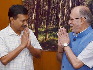 kejriwal and baijal pti