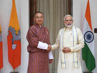 PM Modi holds talks with Bhutanese counterpart, to discuss Doklam tri-junction