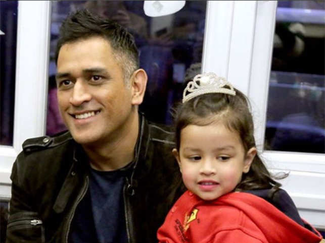 Image result for dhoni with ziva