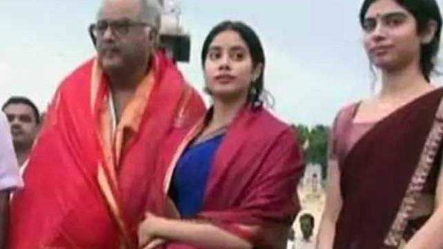 Janhvi Kapoor offers prayers at Tirupati Temple with family ahead of her debut