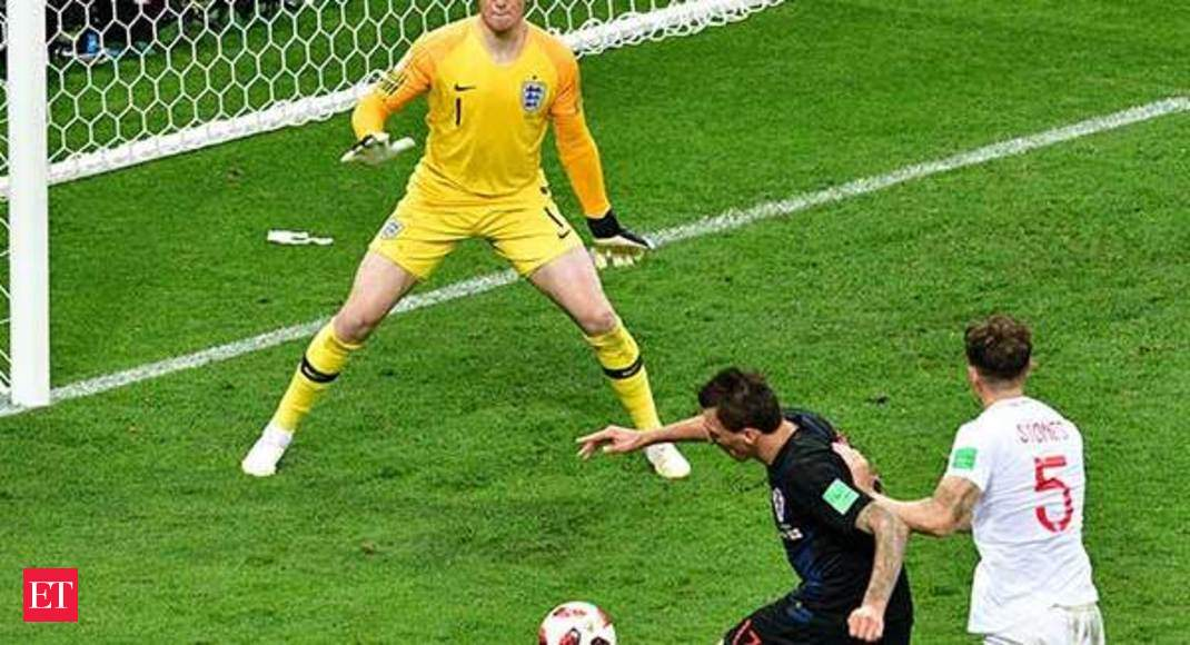 50a4c965b FIFA World Cup: World Cup 2018: Mandzukic breaks England hearts and fires  Croatia into final - The Economic Times Video   ET Now