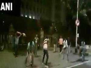 MNS workers break footpath in Mumbai to protest against potholes