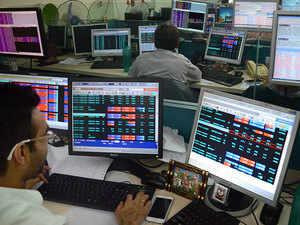 Sensex retreats after hitting record high, drops 147 pts; Nifty ends below 11,000