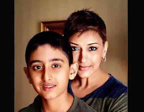 Sonali Bendre posts pic with son; says 12-yr-old Ranveer is now her parent, source of strength