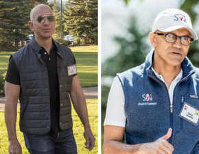 Fashion forward! Bezos's power dressing, Nadella's casual statement at Sun Valley