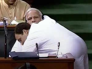 No-confidence motion: Rahul gives Modi 'jaadu ki jhappi'