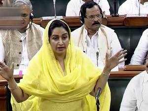 No-confidence motion: Level of debate fallen because of 'dramebaazi', says Harsimrat Badal