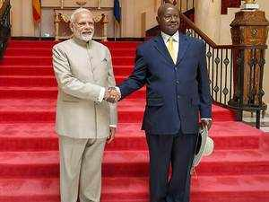 Watch: PM Modi, Uganda President attend delegation level talks