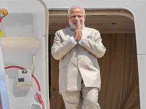 PM Narendra Modi arrives in South Africa for BRICS Summit