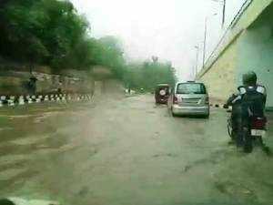 Heavy rains wreak havoc in Delhi-NCR, traffic affected due to water-logging