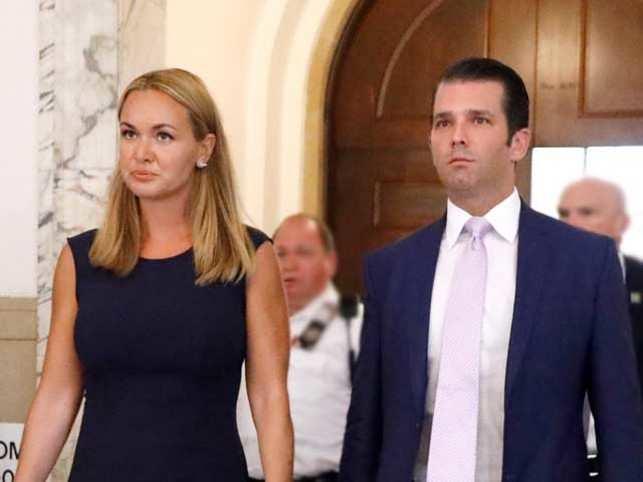 Donald Trump Jr and his estranged wife Vanessa