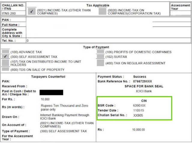 Income Tax Challan 280 Pdf