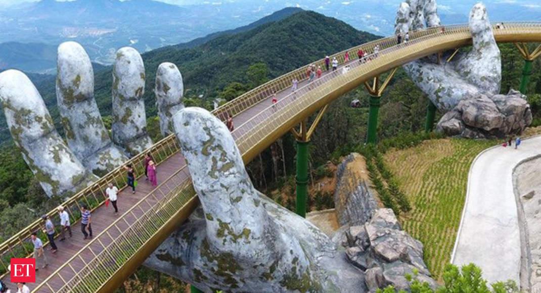 In The Hands Of The Gods Vietnam S Golden Bridge Goes