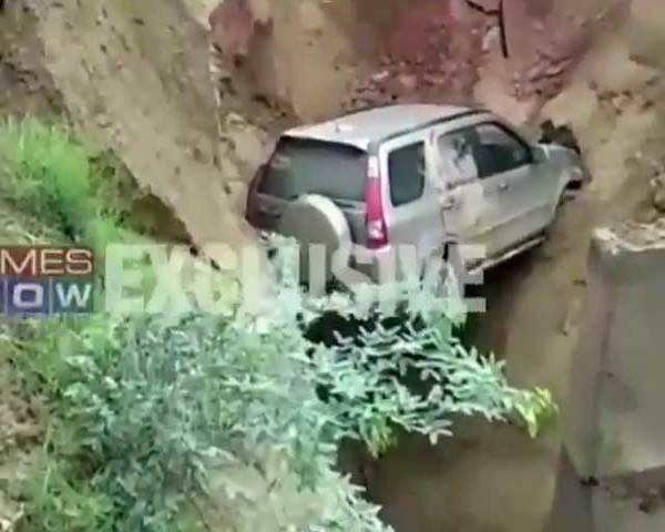 Watch: Road caves in on Agra-Lucknow Expressway