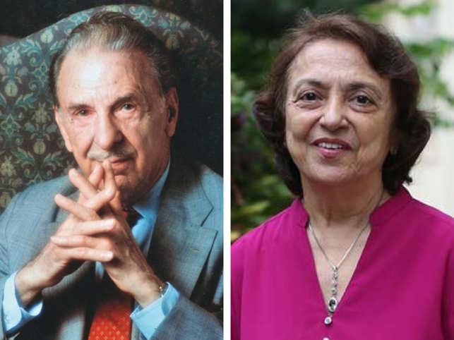 JRD Tata (left) and Aloo Bharthania