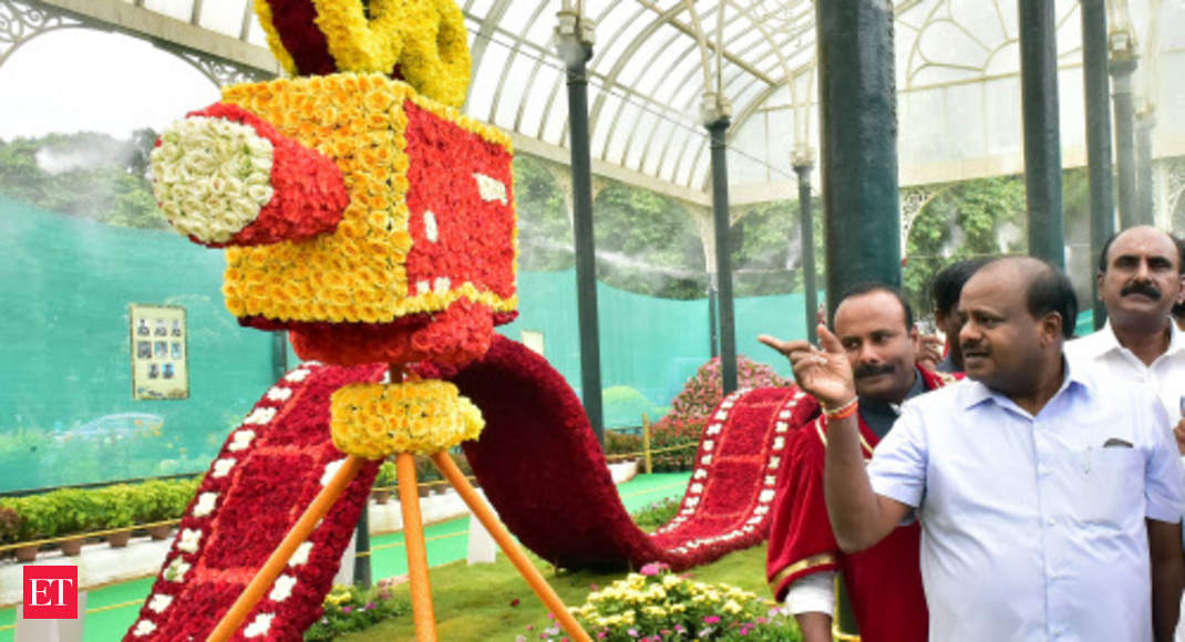 3237bb352e1c Lalbagh Flower Show held in Bengaluru in honor of Indian Armed Forces - The  Economic Times Video