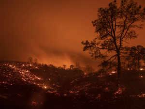 Wildfire in California AP