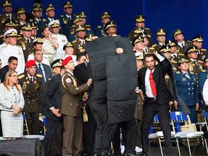Drone blast during Venezuelan President speech