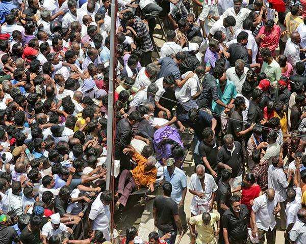 two dead over 30 injured in stampede at rajaji hall the economic