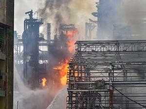 Mumbai: Large fire after explosion at BPCL plant; over 40 injured