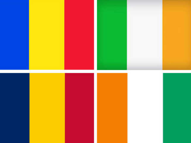 Raising the red flag of similarity: Romania-Chad, Ireland-Ivory Coast