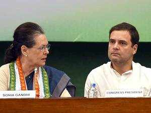 """Rafale deal: Sonia Gandhi leads Congress protest, Rahul terms it """"biggest ever"""" defence scam"""