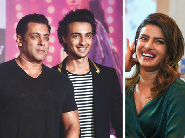 Salman Khan, Aayush Sharma and Priyanka Chopra