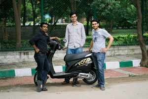 Vogo Scooter with founders